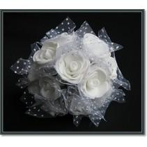 rosas de espuma, 12 rosas, blanco