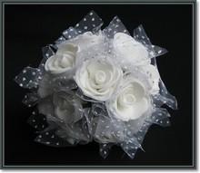 BLUMEN (MINI) UND ACCESOIRES Foam roses, 12 roses, white