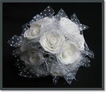 BLUMEN (MINI) UND ACCESOIRES Skum roser, 12 roser, hvid