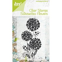 Joy Crafts, Clear stamps, Flowers 3, 52x100mm.