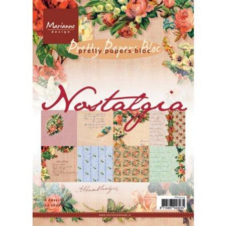 DESIGNER BLÖCKE  / DESIGNER PAPER Nostalgi A5 papir pad.