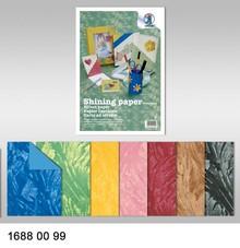 DESIGNER BLÖCKE  / DESIGNER PAPER Effektpapier, Shining paper, 23 x 33 cm, 230 gr/qm