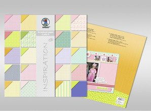 "DESIGNER BLÖCKE  / DESIGNER PAPER Scrapbook paper, ""Lotta 2 '"