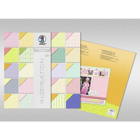 "DESIGNER BLÖCKE  / DESIGNER PAPER Scrapbook Papier , ""Lotta 2"""