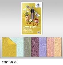 DESIGNER BLÖCKE  / DESIGNER PAPER Effekt af papir, knuse papir, 21 x 33 cm, 120 gr / kvm,