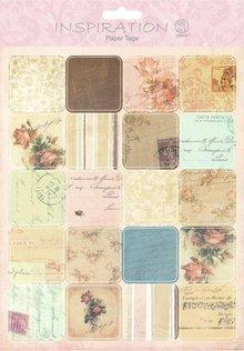Embellishments / Verzierungen Paper Tags, Scene 07