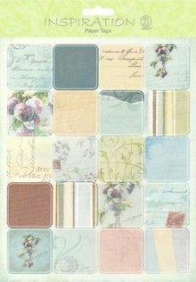 Embellishments / Verzierungen Papir Tags, Scene 08