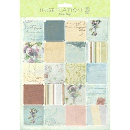 Embellishments / Verzierungen Paper Tags, Motiv 08