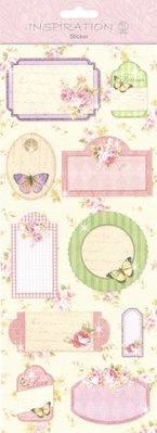 Embellishments / Verzierungen Stickers: for card making, decoration etc., various motives, No. 08