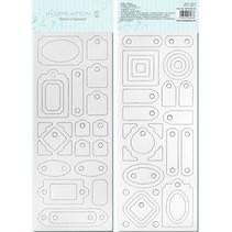 Blanco chip board, voorgesneden, klaar om worden gepersonaliseerd, Motif 4