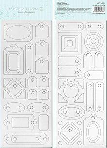 Scrapbooking ... Blanco bordo chip, pre-tagliati, pronti per essere personalizzati, Motif 4