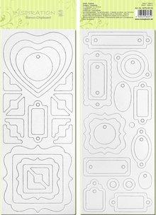 Scrapbooking ... Blanco bordo chip, pre-tagliati, pronti per essere personalizzati, immagine 3