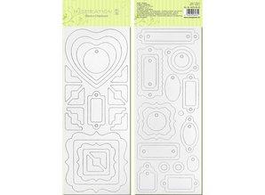 Scrapbooking ... Consejo Blanco chip pre-corte, listo para ser personalizado, image 3