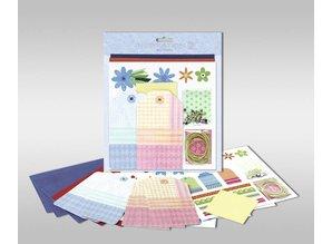 """KARTEN und Zubehör / Cards Juegos de cartas para ser personalizados, """"flores"""", tamaño 7,8 x 13,5 cm"""