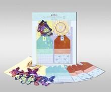 """Exlusiv Sæt kort, der skal personlig, """"sommerfugle"""", str. 7,8 x 13,5 cm,"""