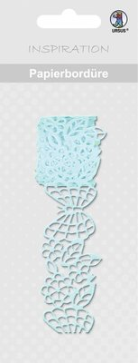 "Embellishments / Verzierungen Papierbordüre, ""light blue"", 16 mm, self-adhesive, 200 cm"
