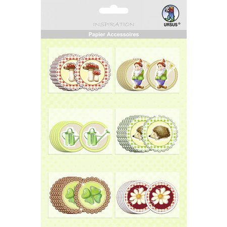 Embellishments / Verzierungen 30 pretty chipboard
