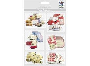Embellishments / Verzierungen Chip boards, bears: 36 parts!