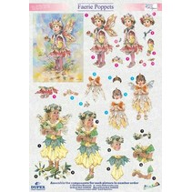 "3D die cut sheet metal engraving, Dufex ""Faerie Poppets 510"" designs Christine Haworth"