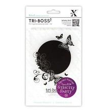 embossing Präge Folder Tri-Boss Relief Folder (A6) - Strictly Party (Butterfly Aperture)