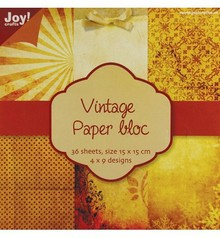 DESIGNER BLÖCKE  / DESIGNER PAPER Vintage papir blok 1, 36 s.., 4x9 15x15cm designs
