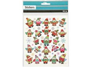 Sticker Pretty Stickers, 1 sheet: 15x16, 5 cm, owls.
