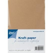 Papel Kraft, A4, 300gr, 25 hojas