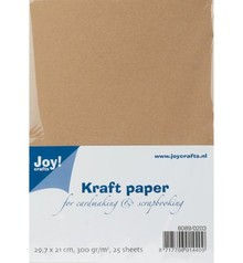 Joy!Crafts und JM Creation Kraft Paper, A4, 300gr, 25 ark