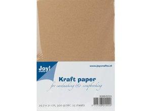 Joy!Crafts und JM Creation Kraft Paper, A4, 300gr, 25 ark