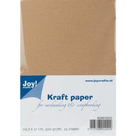 Joy!Crafts und JM Creation Papel Kraft, A4, 300gr, 25 hojas
