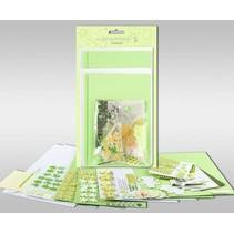 """Sæt af kort, der skal personlig, """"Spring"""", for 4 kort, str. 11,5 x 21 cm og 11,5 x 17 cm"""