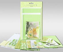 "KARTEN und Zubehör / Cards Sets of cards to be personalized, ""Spring"", for 4 cards, size 11.5 x 21 cm and 11.5 x 17 cm"