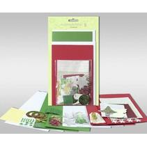"""Kartensets zum Selbstgestalten, """"Winter"""", für 4 Karten, Grösse 11,5 x 21 cm und 11,5 x 17 cm"""