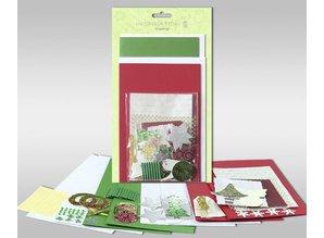 """Exlusiv Sæt af kort, der skal personlig, """"vinter"""", for 4 kort, str. 11,5 x 21 cm og 11,5 x 17 cm"""