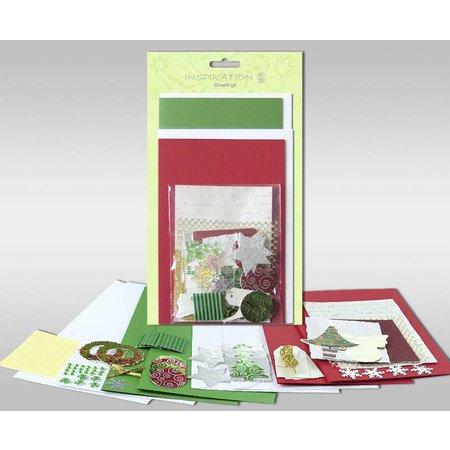 """Exlusiv Juegos de cartas para ser personalizados, """"invierno"""", para 4 tarjetas, tamaño 11,5 x 21 cm y 11,5 x 17 cm"""