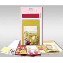 """Kartensets zum Selbstgestalten, """"Love"""", für 4 Karten, Grösse 11,5 x 21 cm und 11,5 x 17 cm"""