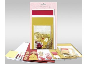 """KARTEN und Zubehör / Cards Kartensets zum Selbstgestalten, """"Love"""", für 4 Karten, Grösse 11,5 x 21 cm und 11,5 x 17 cm"""