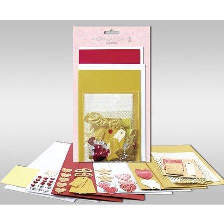 """KARTEN und Zubehör / Cards Juegos de cartas para ser personalizado, """"Love"""", de 4 tarjetas, tamaño 11,5 x 21 cm y 11,5 x 17 cm"""
