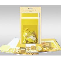 """Kartensets zum Selbstgestalten, """"Sun"""", für 4 Karten, Grösse 11,5 x 21 cm und 11,5 x 17 cm"""