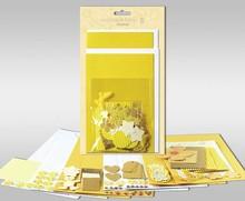"""Exlusiv Set di carte da personalizzare, """"Sole"""", per 4 carte, dimensioni 11,5 x 21 cm e 11,5 x 17 cm"""
