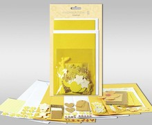 "Exlusiv Sets of cards to be personalized, ""Sun"", for 4 cards, size 11.5 x 21 cm and 11.5 x 17 cm"