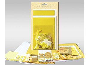 """Exlusiv Sæt af kort, der skal personlig, """"Sun"""", for 4 kort, str. 11,5 x 21 cm og 11,5 x 17 cm"""