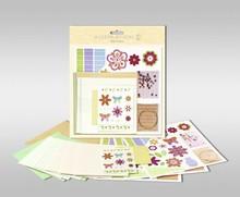 """Exlusiv Set di carte per essere personalizzato, """"fiori"""", formato 7,8 x 13,5 cm,"""