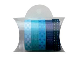DEKOBAND / RIBBONS / RUBANS ... Marianne Design, 5x90cm blå bånd