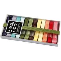 colección Dekoband, 10 mm, colores Asstd, 12x1 m.