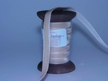 DEKOBAND / RIBBONS / RUBANS ... Ribbon in high quality, 15mm x 1.5 mtr, cream on nostalgic coil.
