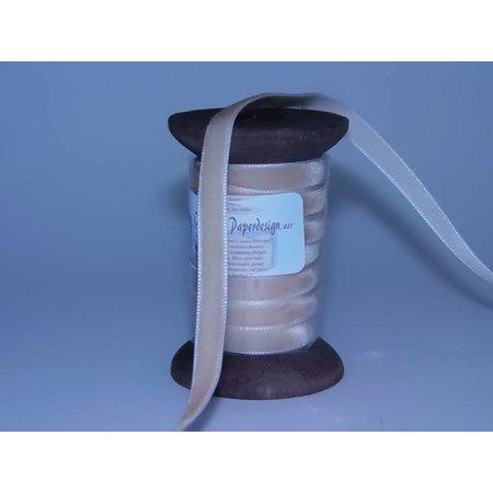 DEKOBAND / RIBBONS / RUBANS ... Dekoband in hochwertiger Qualität, 15mm x 1,5mtr, creme auf nostalgische Spule.