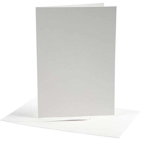 KARTEN und Zubehör / Cards Kort og kuverter, 10,5 x15 cm, hvid, 10 sæt