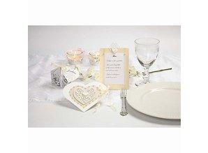 Embellishments / Verzierungen 18 filigree heart, 7.5 cm, white, 250gr of quality carton