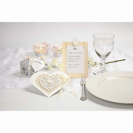 Embellishments / Verzierungen 18 filigrane Herzen, 7,5 cm, weiß, aus 250gr Qualitätskarton